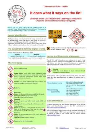 Chemical Labels poster