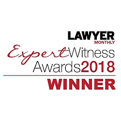 Winner of Lawyer Monthly Expert Witness Awards 2018